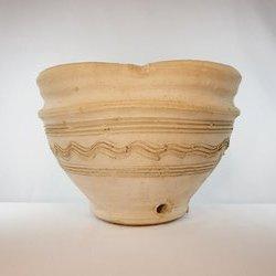 Doniczka ceramiczna w stylu afrykańskim