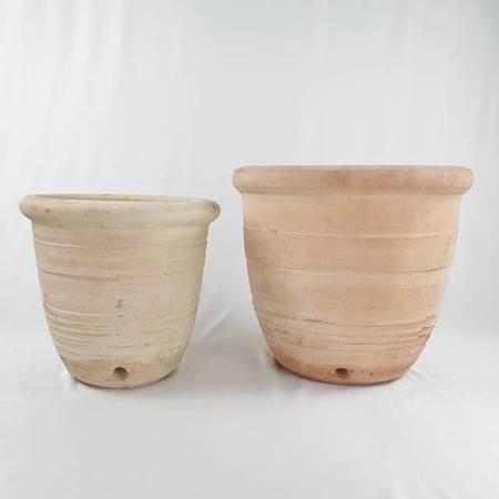 Uniwersalna donica ceramiczna, wysoka np. do palm, stabilna, ciężka